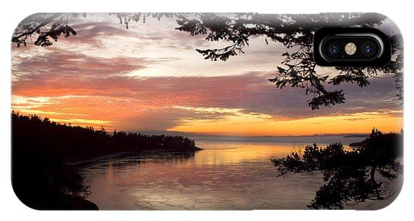 Ocean Sunset Deception Pass IPhone Case