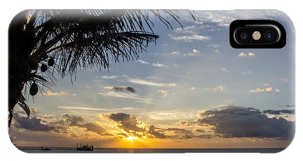Oceanfront Park Sunrise 1 IPhone Case
