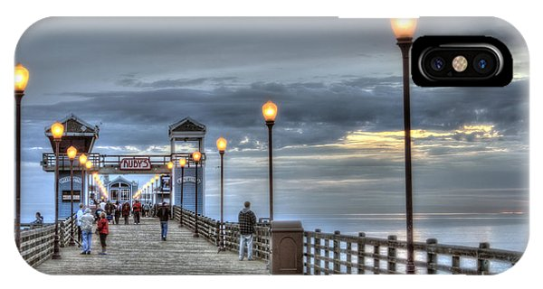 iPhone Case - Oceanside Pier At Sunset by Ann Patterson