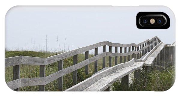 Ocracoke Boardwalk Phone Case by Cathy Lindsey