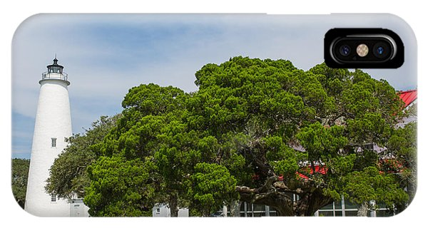 Ocracoke Lighthouse And Light Keeper's House IPhone Case