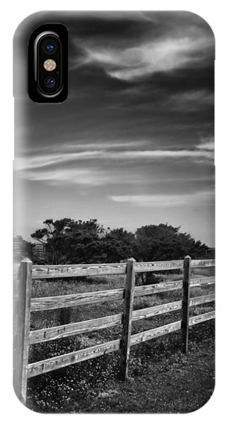 Ocracoke Pony Fence IPhone Case