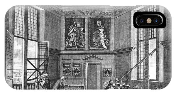 King Charles iPhone Case - Octagon Room by Royal Astronomical Society/science Photo Library