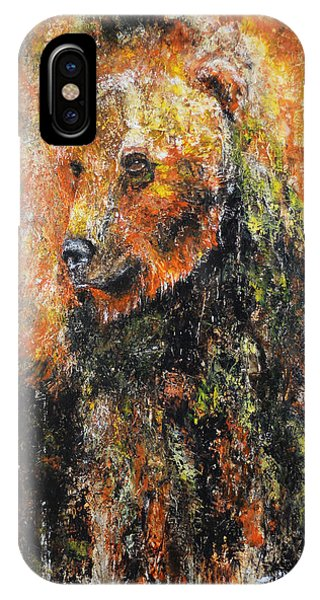 Abstract Bear Painting October Bear IPhone Case