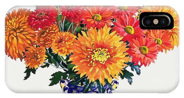 Representation iPhone Case - October Chrysanthemums by Christopher Ryland