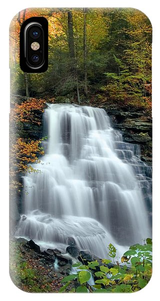 October Foliage Surrounding Erie Falls IPhone Case