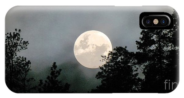 October Full Moon Iv Phone Case by Phil Dionne