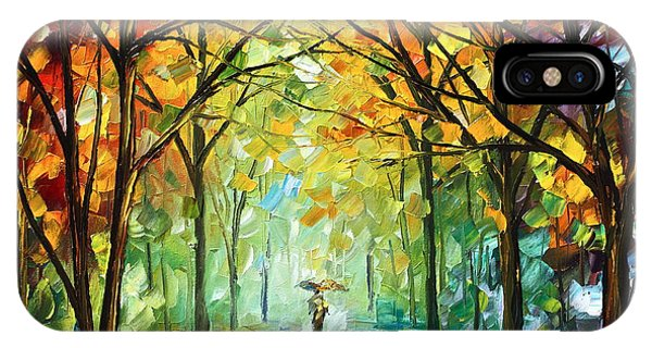 Fog iPhone Case - October In The Forest by Leonid Afremov