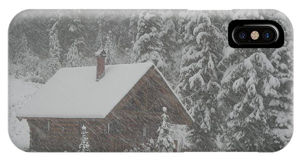 October Snowfall  --  British Columbia  IPhone Case