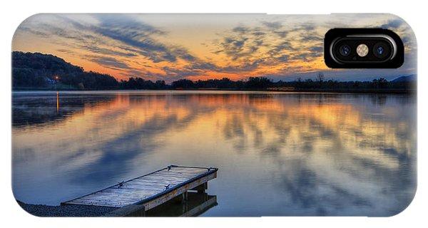 October Sunrise At Lake White IPhone Case