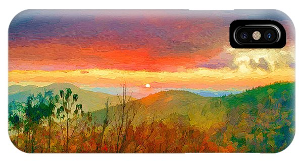 October Sunrise Painting On The Blue Ridge Parkway IPhone Case