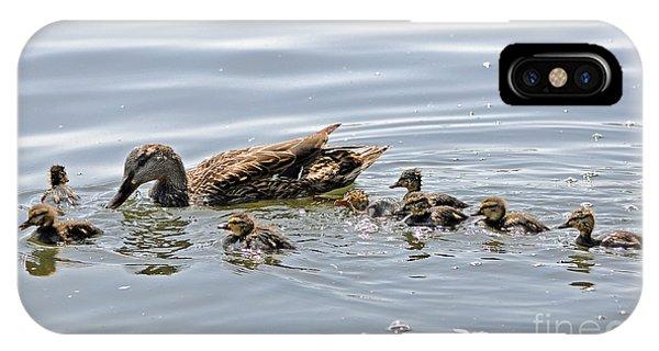 Octomom Duck With Her Ducklings IPhone Case