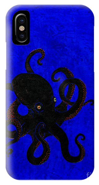 Octopus Black And Blue IPhone Case