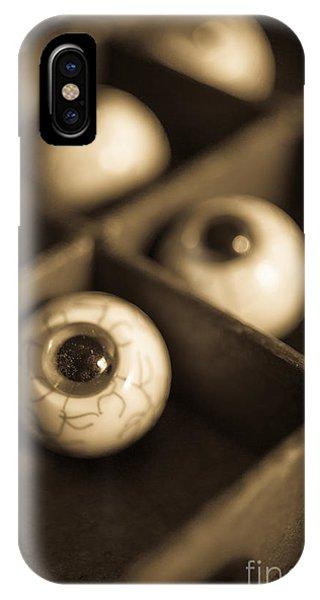 Strange iPhone Case - Oddities Fake Eyeballs by Edward Fielding