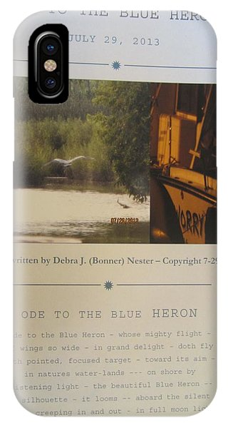 Ode To The Blue Heron Phone Case by Debbie Nester