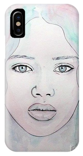 Of Colour And Beauty - Blue IPhone Case