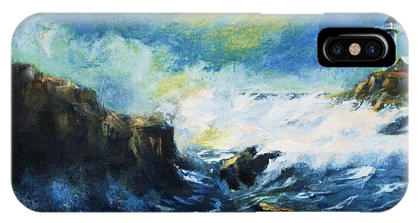 Off Shore Breakers At Dusk IPhone Case