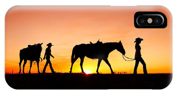 Horse iPhone X Case - Off To The Barn by Todd Klassy
