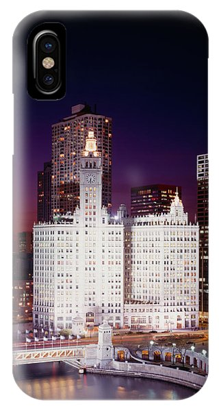 Office Building Lit Up At Night IPhone Case