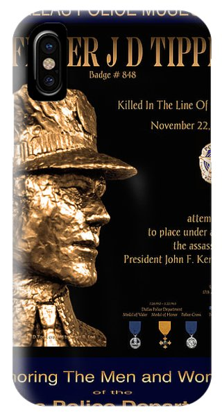 Officer J D Tippit Memorial Poster Phone Case by Robert J Sadler