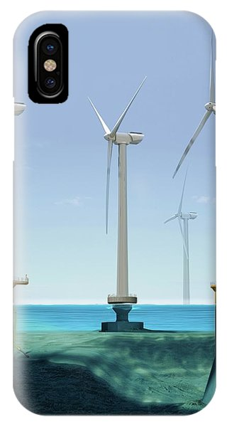 Offshore Wind Farm Phone Case by Claus Lunau/science Photo Library