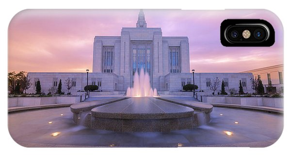 Sunset iPhone Case - Ogden Temple I by Chad Dutson