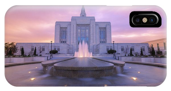 Temple iPhone Case - Ogden Temple I by Chad Dutson