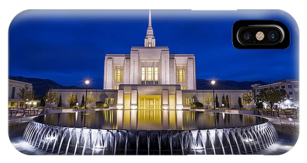 Temple iPhone Case - Ogden Temple II by Chad Dutson
