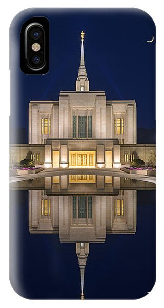 Ogden Temple Reflection IPhone Case