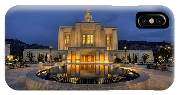 Ogden Temple Reflections IPhone Case