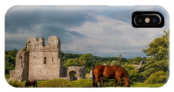 Ogmore Castle Phone Case by David Ross