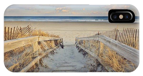 New England Coast iPhone Case - Ogunquit Beach Boardwalk by Katherine Gendreau