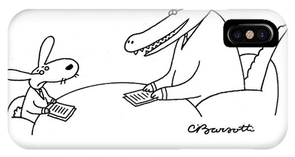 1 iPhone Case - Oh, Dear, I'm Afraid You've Backed by Charles Barsotti
