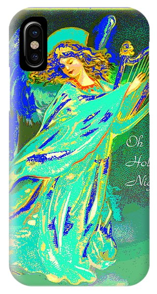 Harp iPhone Case - Oh Holy Night by Joyce Dickens