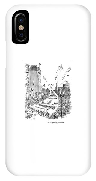 D.c. iPhone Case - Oh, It's A Grand Day For Harvard! by James Stevenson