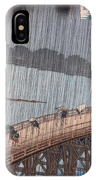 Ohashi Sudden Shower At Atake IPhone Case