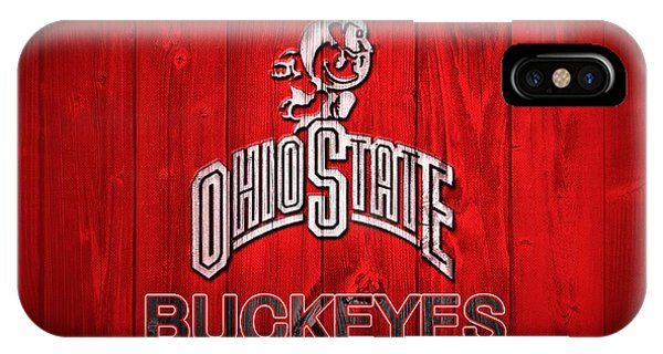 Ohio State Buckeyes Barn Door Vignette IPhone Case