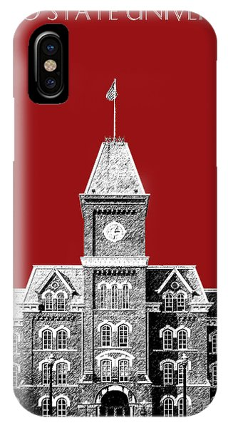 Celebration iPhone Case - Ohio State University - Dark Red by DB Artist