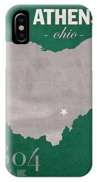 Bobcats iPhone Case - Ohio University Athens Bobcats College Town State Map Poster Series No 082 by Design Turnpike