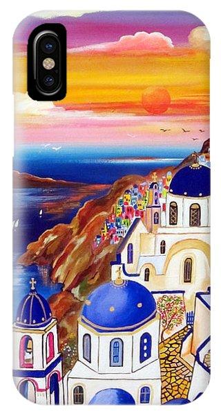Oia Santorini Greece IPhone Case