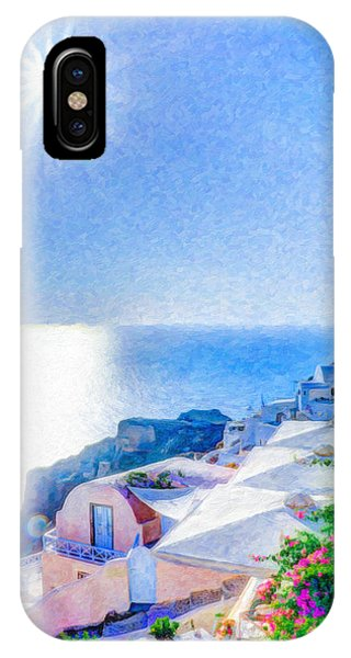 Oia Santorini Grk4178 IPhone Case