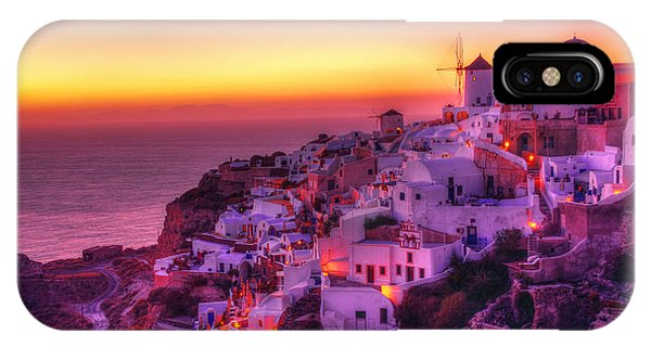 Oia Sunset IPhone Case