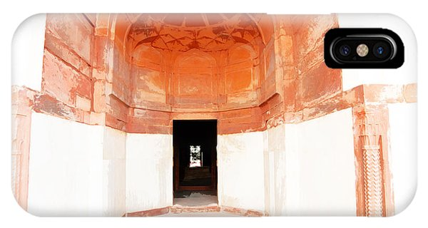 Oil Painting - Doorway In Humayun Tomb IPhone Case