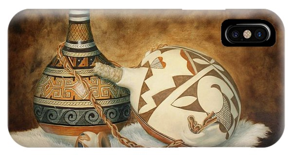 Oil Painting - Indian Pots IPhone Case