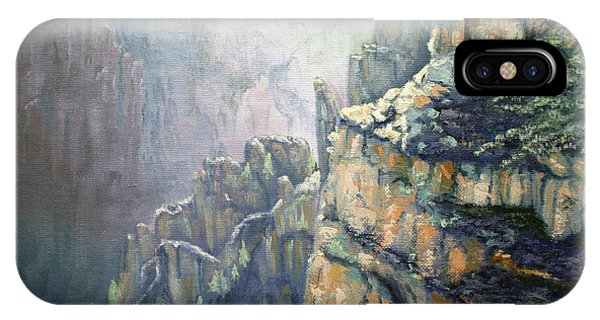 Oil Painting - Majestic Canyon IPhone Case