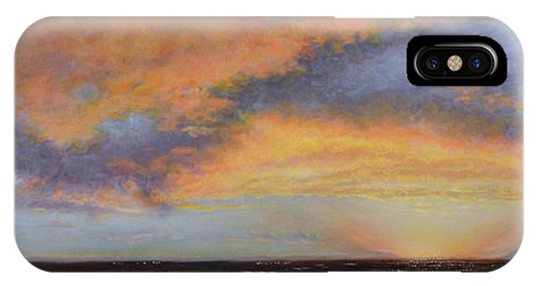 Oil Painting When The Sky Turns Color IPhone Case