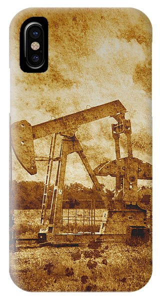 Oil Pump Jack In Sepia Two IPhone Case