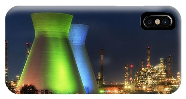 Oil Refineries Panoramic View Phone Case by Isaac Silman