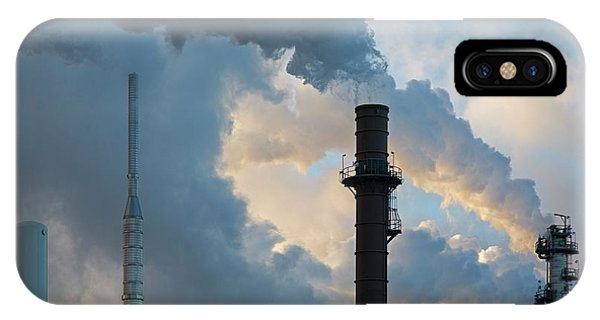 Oil Refinery Towers Phone Case by Jim West
