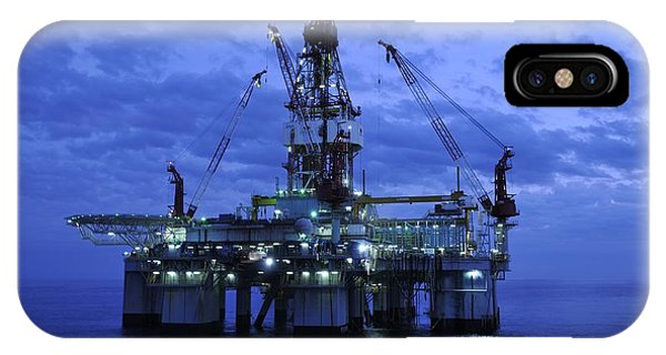 Oil Rig At Twilight IPhone Case